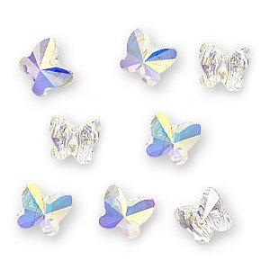 - Swarovski Beads #5754 Butterflies 6mm Crystal AB (8)