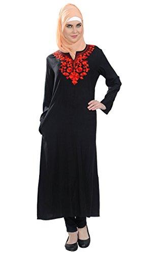 Schwarz Kleid Schwarz East Damen Essence qZWv71