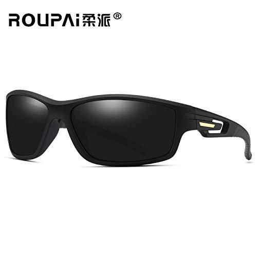 polarizadas Sol Montar 2 Libre de Black Deportivas conducción Gafas Sol Hombre Gafas Marco visión Aire Nocturna box Deportiva Azul al de Gafas de Gafas sunglasses de Mjia vawFq0q