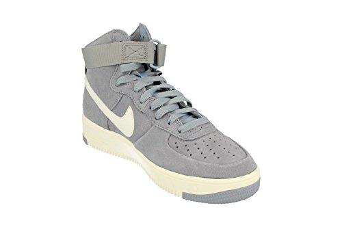 Nike Menns Air Force 1 Ultraforce Hi Basketball Sko Breen Gray Summit Hvit 004