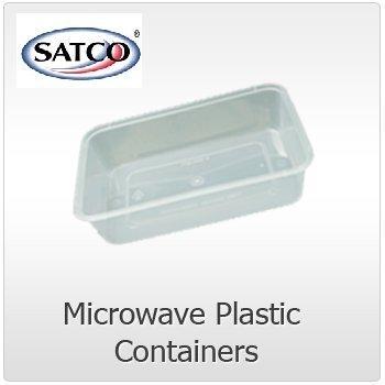 50 x Microondas de plástico Comida Heavy Duty Satco ...