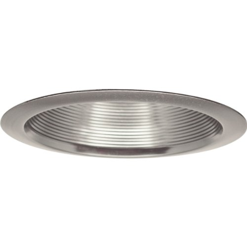 Progress Lighting P8066-09 Step Baffle For Insulated Ceilings 7-3/4-Inch Outside Diameter, Brushed (7.75 Baffle Recessed Trim)