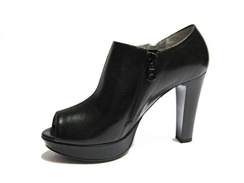 Nero Giardini 12610DE scarpe spuntate da donna in pelle Nero tacco cm. 10 plateau cm. 2, num. 38