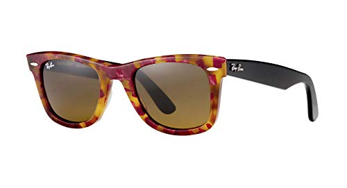 Ray-Ban Women's Icons Wayfarer Sunglasses, Spotted Red Havana/Brown, One ()