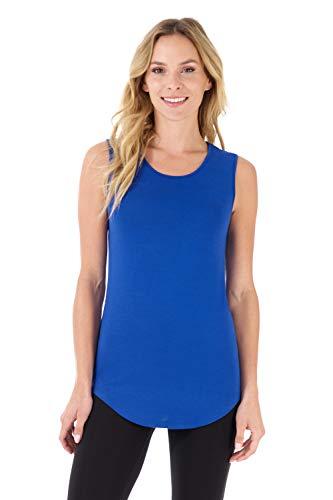 Rekucci Women's Soft Jersey Knit Sleeveless Tank Top (S-XXL) (X-Large,Royal)