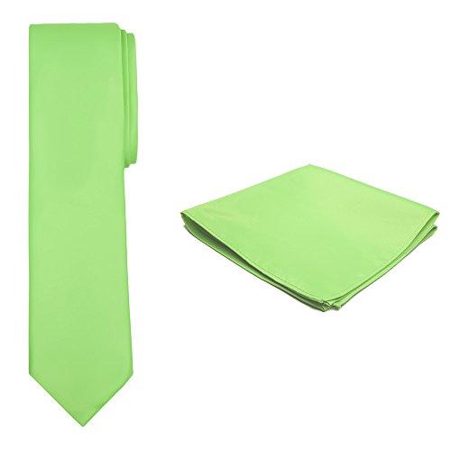 Jacob Hanky Color Slim Lime Set and Tie Solid Alexander Men's BxO0SrB7q