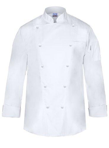 Newchef Fashion Marquis Chef Coat Men's White Chef Jacket 2XL White by Newchef Fashion