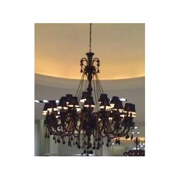 New jet black gothic crystal chandelier lighting h37 x w26 large foyerentryway jet black gothic crystal chandelier chandeliers lighting with black shades aloadofball Images