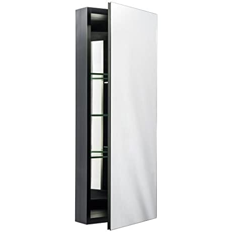 Miseno MBC3615 Dual Mount 36 X 15 Medicine Cabinet Surface Or Recessed Mounti Black