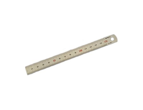 M&G Stainless Steel Metric Precision Ruler 15cm (150mm) Included Inches to Metric Conversion Table (Metric And Imperial Conversion Charts And Tables)