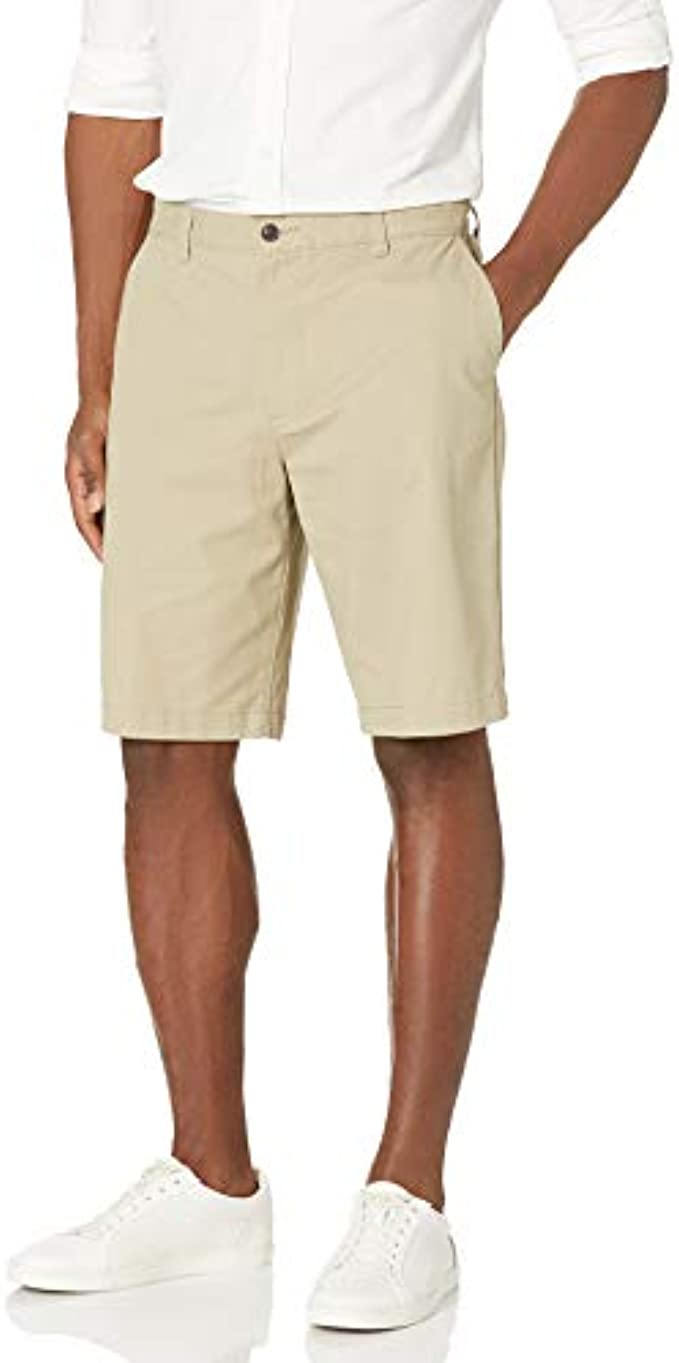 Dockers Men's Classic Fit Perfect Short : Color - New British Khaki (Cotton), Size - 33 (B009CTU9T2)