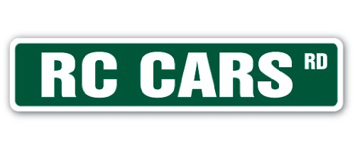 - RC CARS Street Sign hobby model builder race racer | Indoor/Outdoor | 36