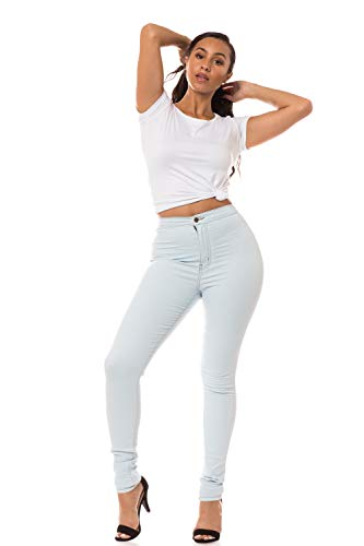 Aphrodite Plus Size High Waisted Jeans - High Rise Waist Skinny Womens Jeans with Round Back Pockets 1168 (Made in USA) Light Blue 1XL