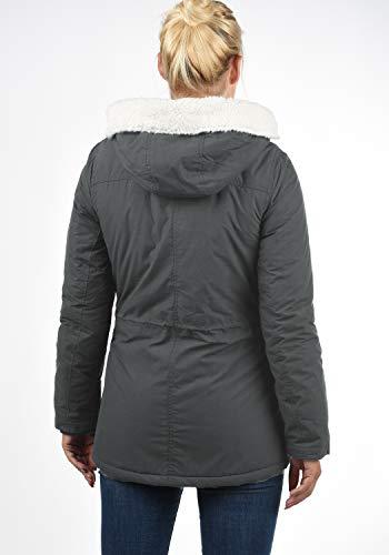 Conchita Cappuccio All'esterna Fodera Dark Invernale Grey D'orsacchiotto Giacca Con Giaccone 2890 Da Desires Donna 1Aqd1