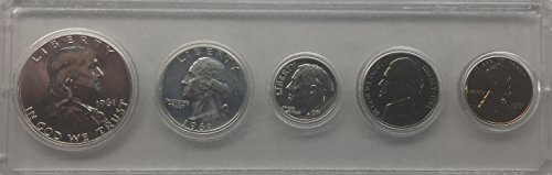 1961 P US Silver Proof Set Comes In hard Case - Coin 1961