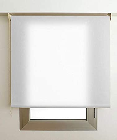 Estor Luminoso Elite (Desde 40 hasta 300cm de Ancho) Permite Paso de Mucha luz, no Permite Ver el Exterior/Interior. Color Blanco. Medida 80cm x 160cm para Ventanas y Puertas