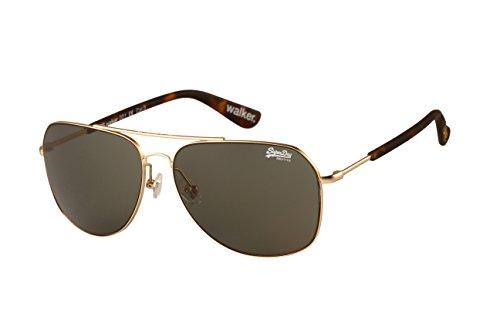 Superdry Gold Walker Aviator Sunglasses