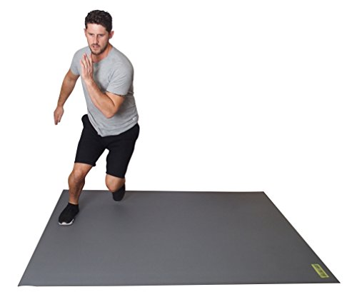 Large Exercise and Fitness Mats for Home, Gym, Classes – Cardio, Equipment, Kickboxing, Yoga Mat with Non-Slip Bottom Grip – Multipurpose Workout Pad for Stretching & Rehabilitation, 6′ x 5′