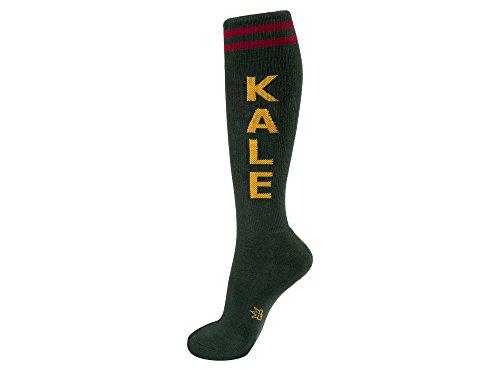 Gumball Poodle Kale Knee High Tube Socks Evergreen (Evergreen Stocking)