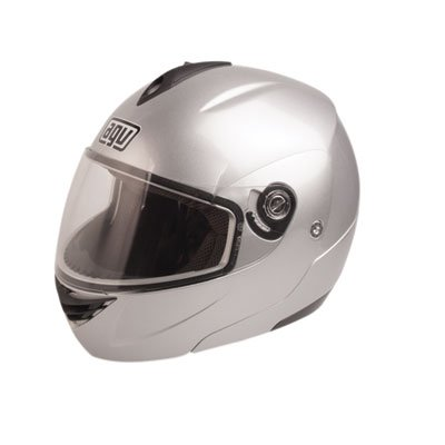 AGV Miglia 2 Solid Helmet , Size: Md, Primary Color: Silver, Helmet Type: Modular Helmets, Helmet Category: Street, Distinct Name: Silver, Gender: Mens/Unisex 089154B0004007