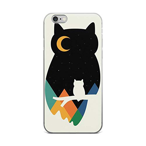 iPhone 6 Plus/6s Plus Pure Clear Case Cases Cover Eye on Owl Silhouette Painting