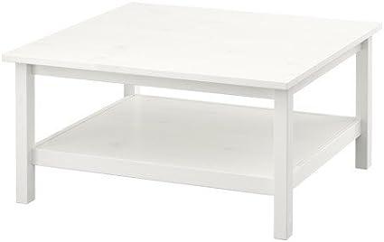 Ikea HEMNES Couchtisch in weiß; aus Massivholz; (90x90cm