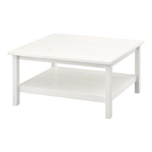 Ikea Hemnes Couchtisch In Weiss Aus Massivholz 90x90cm Amazon De