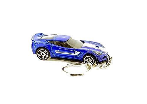Diecast Corvette C7 Z06 Ceiling Fan Light Pull Chain Ornaments & Keychains (Corvette C7 Z06 Blue Keychain)