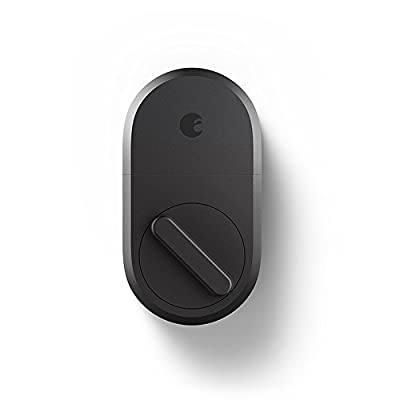 August Smart Lock - Keyless Home Entry with Your Smartphone - Dark Gray