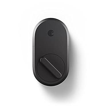 August Smart Lock, 3rd Gen technology Dark Gray, Works with Alexa