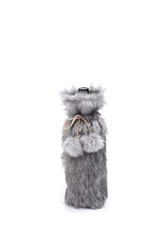 Transpac Imports D1442 Faux Fur Wine Bag, Multicolored]()