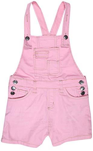 dELiAs Girls Bib Overall Denim Shorts with Adjustable Straps, Pink Denim, Size 14' ()