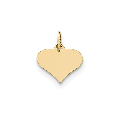 Gauge Engraveable Girl Charm - 14k Yellow Gold .009 Gauge Engraveable Heart Disc Pendant Charm Necklace Engravable Shapely Love Fine Jewelry Gifts For Women For Her