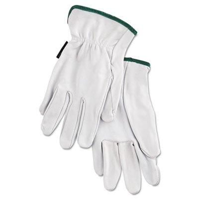 Grain Goatskin Driver Gloves, White, Medium, 12 Pairs, Sold as 12 Each