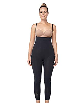 Leonisa Invisible Tummy Control Bodysuit Shapewear Leggings for Women with Leg Compression Shorts by Leonisa