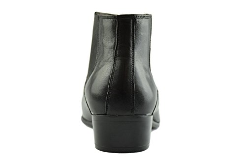 Boot Botas Chelsea Winklepicker Vandini Paolo Hombre Negro Cuero Ankle Pointed HwSxzxABq