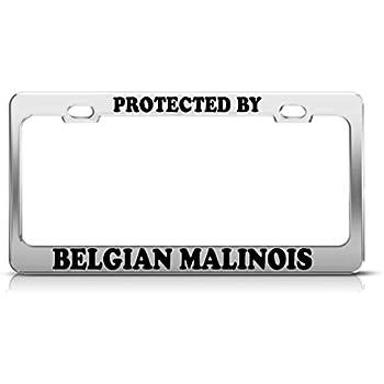 Amazon Com Belgian Malinois License Plate Frame Chrome