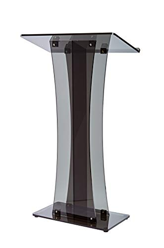 AdirOffice Acrylic Stand up, Floor-Standing Podium, Lectern (See Through Black) by AdirOffice (Image #1)