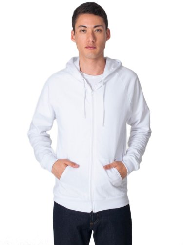 American Apparel California Fleece Zip Hoodie - White / 2XL