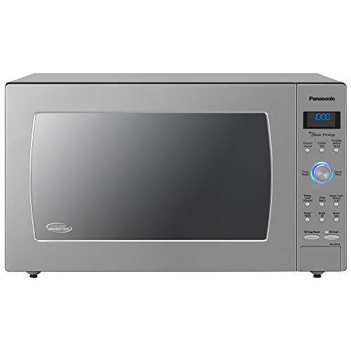 Panasonic Microwave Oven NN-SD975S Stainless Steel Countertop/Built-In Cyclonic Wave with Inverter Technology and Genius Sensor, 2.2 Cu. Ft, 1250W