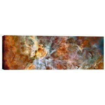Epic Graffiti Carina Nebula' Hubble Space Telescope Giclee Canvas Wall Art, 20'' x 60'', Red