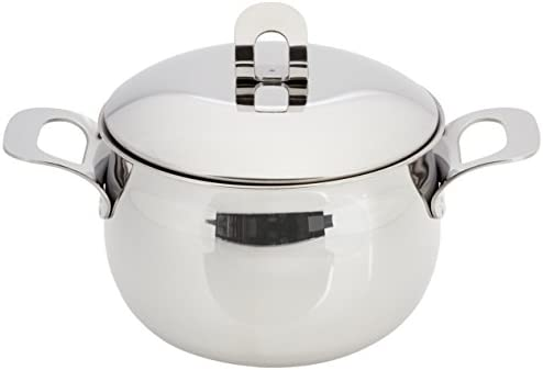 ExcelSteel Made in Italy 4 QT Stainless Stockpot W Sandwiched Base