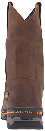 Timberland Pro Mens AG Boss Soft-Toe Waterproof Pull-On Industrial and Construction Boot Brown Distressed Leather