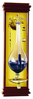 Ambient Weather WS-YG634 Antique Storm Glass Barometer with Cherry Wood ()