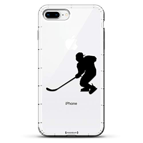 (Sports: Hockey Player Swinging Silhouette | Luxendary Air Series Clear case with 3D-Printed Design & Air Cushions for iPhone 8/7 Plus)