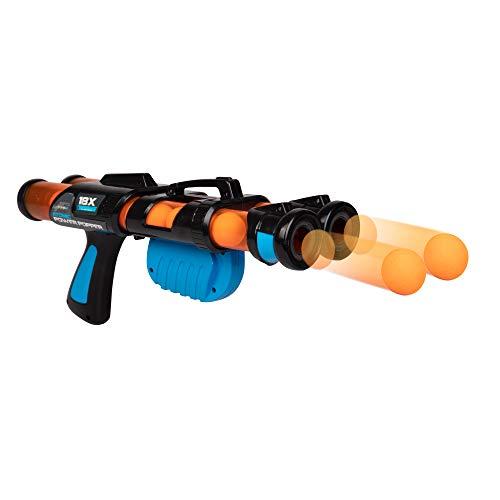 Hog Wild Atomic Power Popper Double Barrel 18X - Rapid Fire Foam Ball Blaster Gun - Shoots Up to 18 Foam Balls