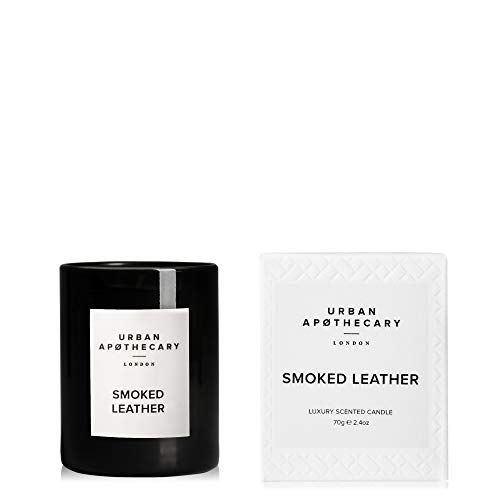 Urban Apothecary Smoked Leather Little Luxury Scented Candle 70 g