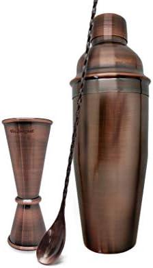 Vin Bouquet Coctail Vintage FIV 133 Set Coctel, Cobre Antiguo, 0 cm, 3 Unidades