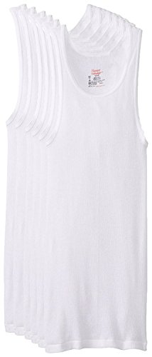 Hanes Men's Big and Tall Tank Tagless Fresh IQ Comfort Soft Ribbed A-Shirt 100% Cotton - 6 Pack 3XL Tall (Hanes Fitting)