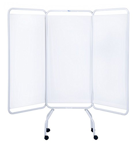 Winco 3130 Folding 3 Panel Medical Privacy Screen ( standard white vinyl ) Medical Privacy Screen
